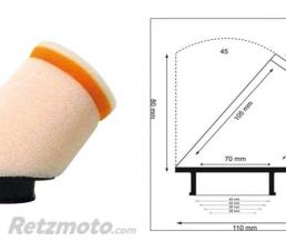 TWINAIR Filtre à air TWIN AIR 45° manchon Ø28mm