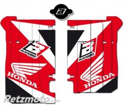 BLACKBIRD Kit déco de cache radiateur BLACKBIRD Dream Graphic 3 rouge Honda CRF450R