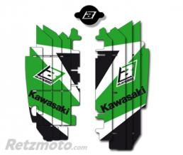 BLACKBIRD Kit déco de cache radiateur BLACKBIRD Dream Graphic 3 vert Kawasaki KX250F