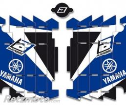 BLACKBIRD Kit déco de cache radiateur BLACKBIRD Dream Graphic 3 bleu Yamaha YZ2250F/YZ450F - WR250F