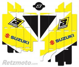 BLACKBIRD Kit déco de cache radiateur BLACKBIRD Dream Graphic 3 jaune Suzuki RM-Z450